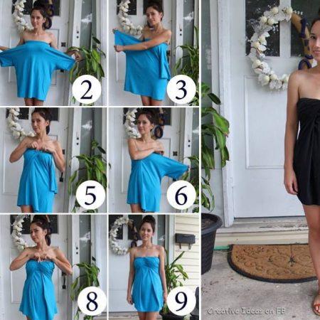 Как сделать платье из футболки Sullen